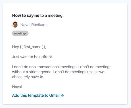 提供「拒絕」模板的 How to say no 在 Product Hunt 獲得超過兩千個 upvote,登上當週第一。(來源:Product Hunt )