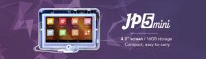 Jpay 2015 年推出的平價款平板電腦 JP5mini,售價 69 美金不含稅。